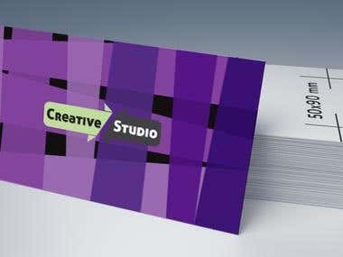 Business card and leaflet for creative agency