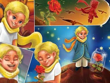 "Illustrations fro Book ""Little prince"""