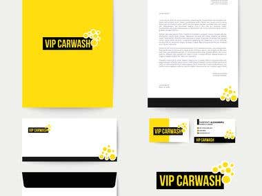 VIP CARWASH LOGO & Banner & CORPORATE ID... FULL PACKAGE
