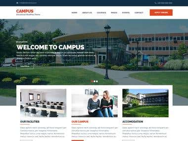 Responsive University Campus Website