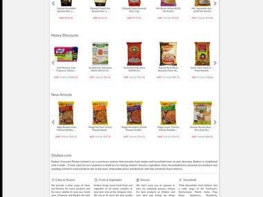"""Ondoor.com"" Online Grocery Shoping Site"