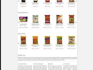 """""""Ondoor.com"""" Online Grocery Shoping Site"""