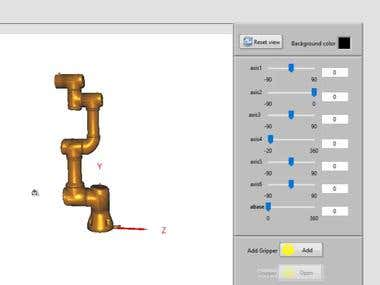 6 Axis Robot simulator using LabVIEW