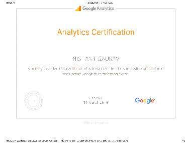 Google Analytics Certification ...