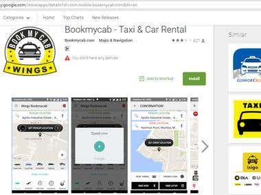 """""""Bookmycab"""" Android and IOS App."""