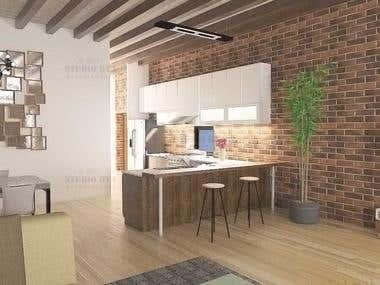 Interior Design of a Brownstone Apartment