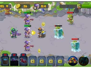 Strategy Game(Zombies Dead Frontier Vs Special Squad heroes)