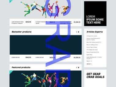 Webpage Mockups