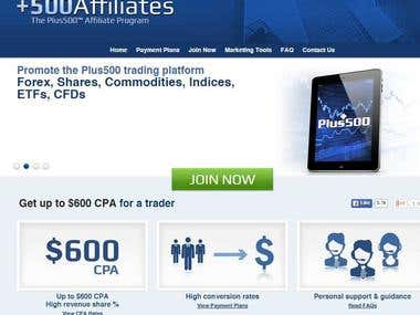 Translation/Traduction Plus 500 Trading platform affiliates