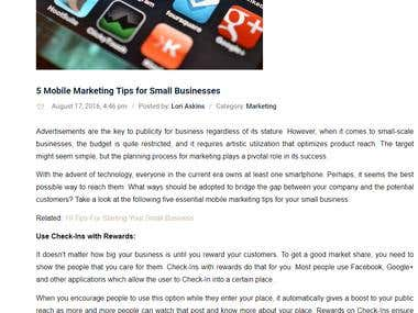 5 Marketing Tips for Small Business
