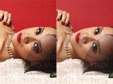 High end retouching and edition work.