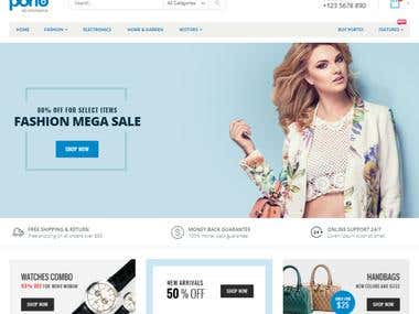 Responsive E-commerce Website