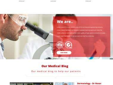 Dynamic Website for Hospital