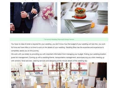 Wedding Bliss Website