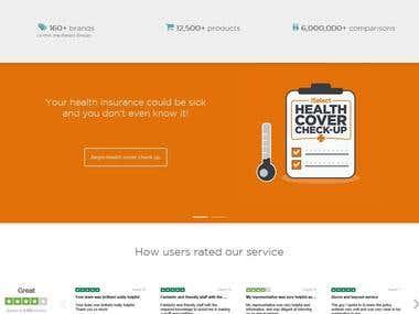WordPress - Health Insurance Site