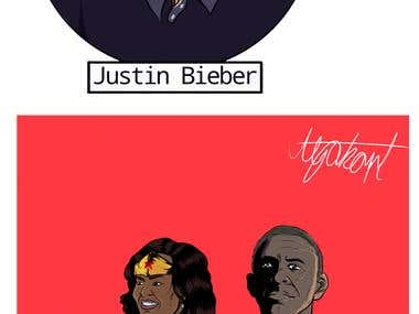 Celebrity Drawing and Caricatures