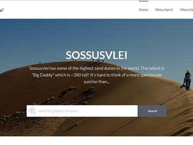 A tour and travel website developed in September, 2017.