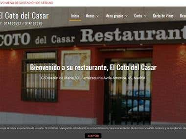 www.elcotodelcasar.com - Restaurant web