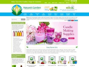 Nature Garden Wholesale Candle (React Project)