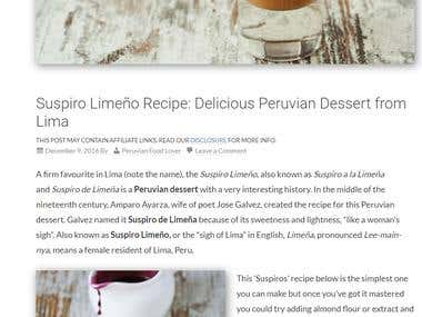 PD, DELICIOUS PERUVIAN DESSERT FROM LIMA