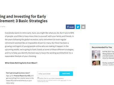 Saving and Investing for Early Retirement