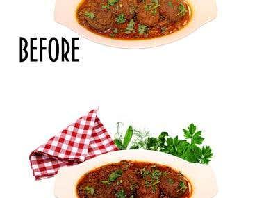Food retouching
