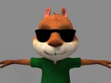 3D Squirrel Model