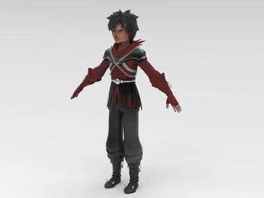 3D Manga Character