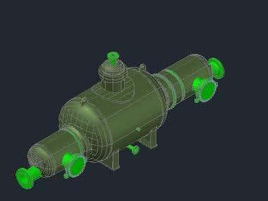 Vessel 3D modeling