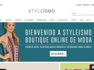 Styleismo e-commerce store development