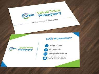 Business Card Design for Virtual Tours Photography