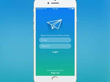 Marketplace App UI Design