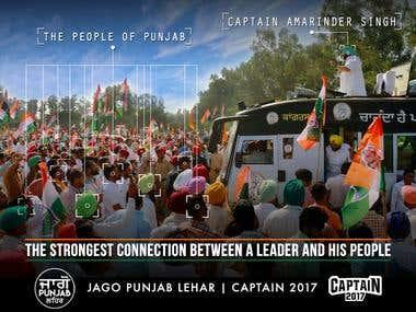Captain Amarinder Singh's Political Campaign Work