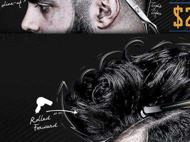 Fade Experts Barber Poster Design - Winning Entry