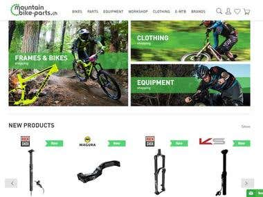 MTB - Motor cycle and parts selling eCommerce