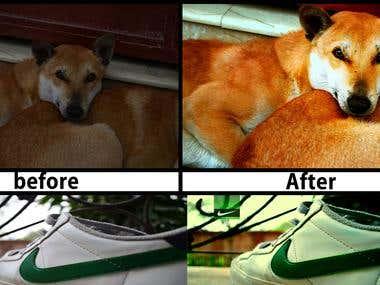 photo editing. photo retouching
