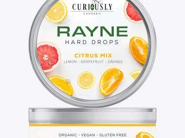 Rayne Hard Drops - Label Design