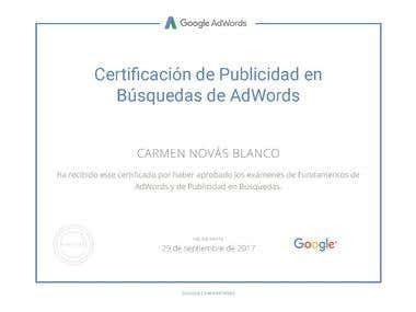 Certificado de Adwords