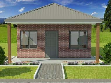 3D House Landscape Model Design