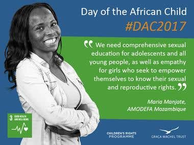 Day of the African Child - Social Media Cards