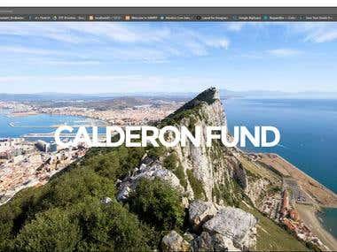 Corporate Website für einen Investment Fund