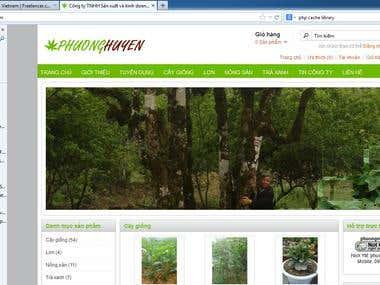 shopping cart website traphuonghuyen.com