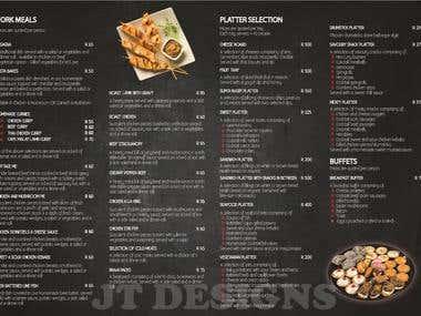 Brochure (inside) Design for Jogos Catering (South Africa)