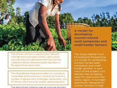 Food Basket Program - Online Booklet Design