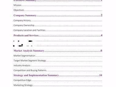 Business Plan - Sample