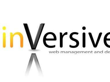 Inversive logo concept