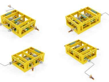 2in Valve Prot Skid at P34 from Gryphon Subsea project
