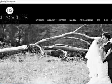 high Society - a wordpress website