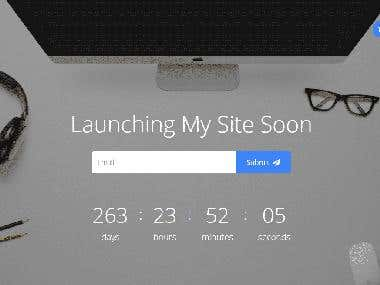 Coming Soon Responsive Template