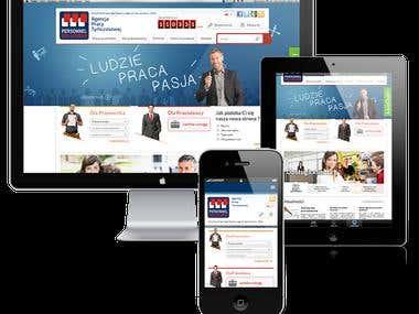 Strona internetowa Personnel Solutions